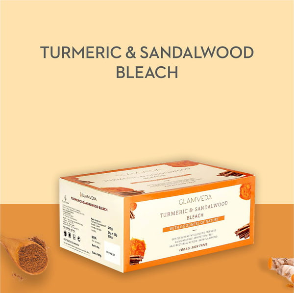 Glamveda Turmeric & Sandalwood Face & Body Bleach Creme 300g