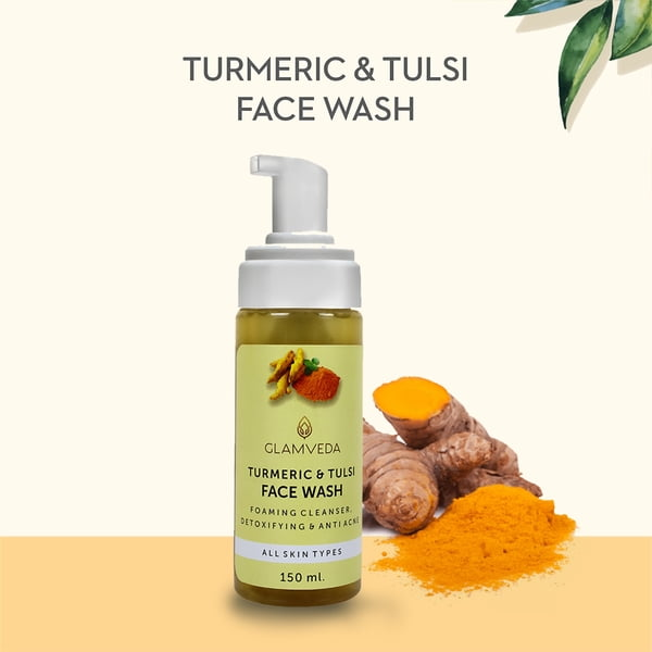 Glamveda Turmeric & Tulsi Detox Anti Acne Face Wash 150ml