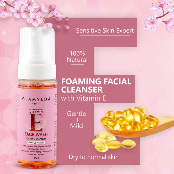 Glamveda Vitamin E Gentle Foaming Face Wash 150ml