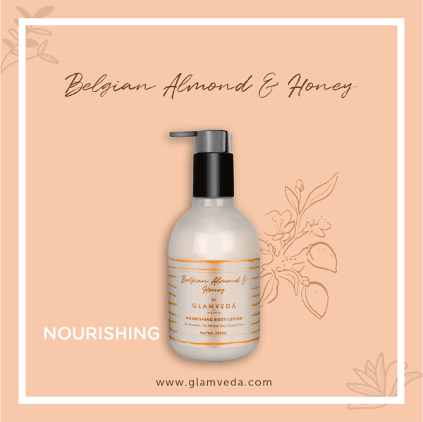 Glamveda Belgian Almond & Honey Nourishing Body Lotions 300ml