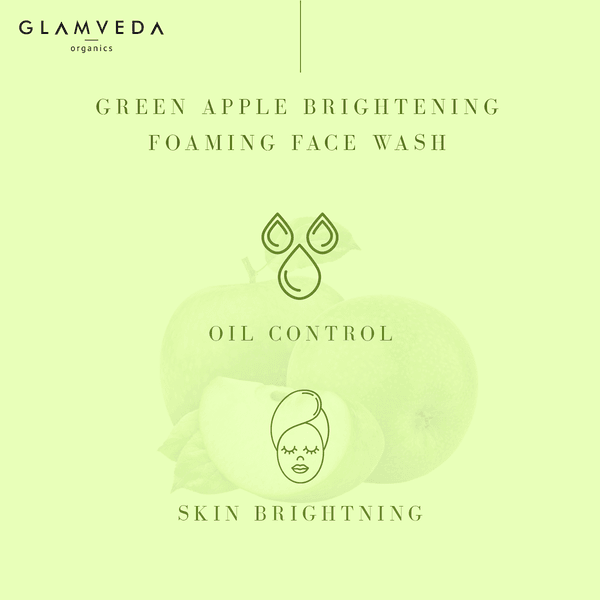 Glamveda Green Apple Brightening & Oil Control Face Wash 150ml