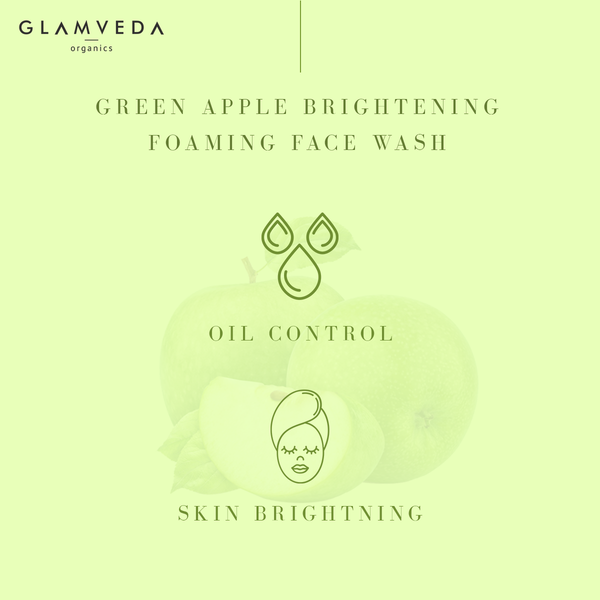 GLAMVEDA GREEN APPLE BRIGHTENING FOAMING FACE WASH
