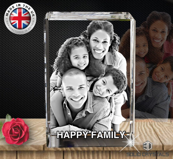 3D Photo Crystal Block