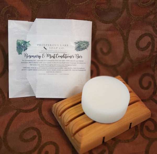 Rosemary & Mint Conditioner Bar - Prosperous Lake Soap Co.