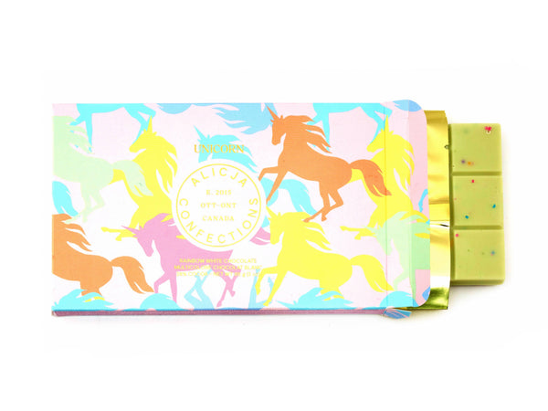 Unicorn White Postcard Chocolate Bar