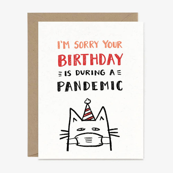 Paper Pony Co. - Birthday Pandemic Cat Card