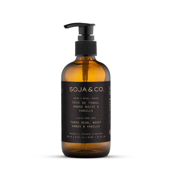 Liquid Hand Soap - Tonka Bean, Vanilla and Woody Amber