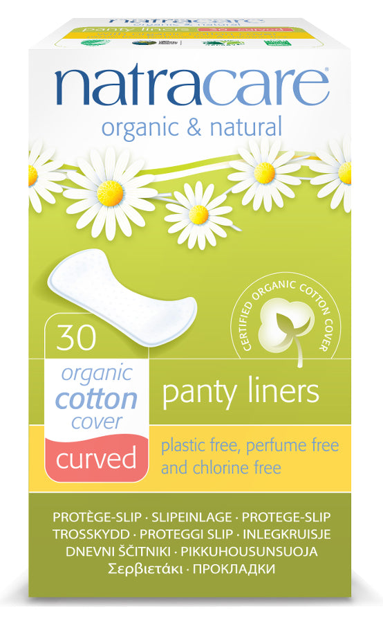 Organic Curved Panty Liners - 30