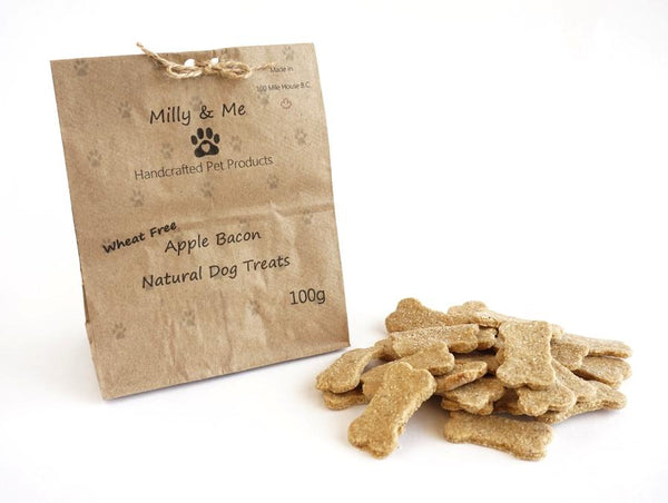 Milly and Me: Apple Bacon Natural Dog Treats - WHEAT FREE