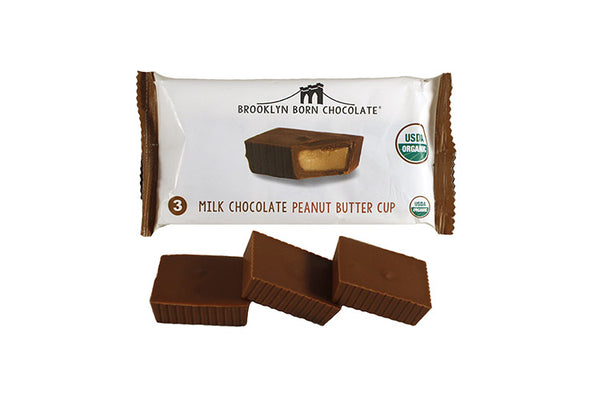 Brooklyn Born Chocolate - 3 Milk Chocolate Peanut Butter Cups