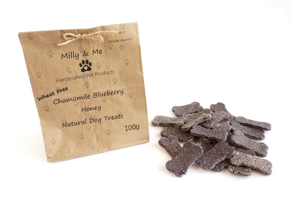 Milly and Me: Chamomile Blueberry Honey Natural Dog Treats - WHEAT FREE