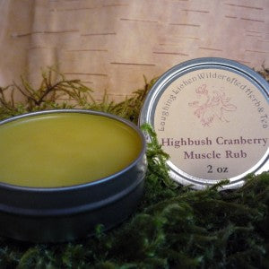 Laughing Lichen -Highbush Cranberry Muscle Rub - 1/2 oz