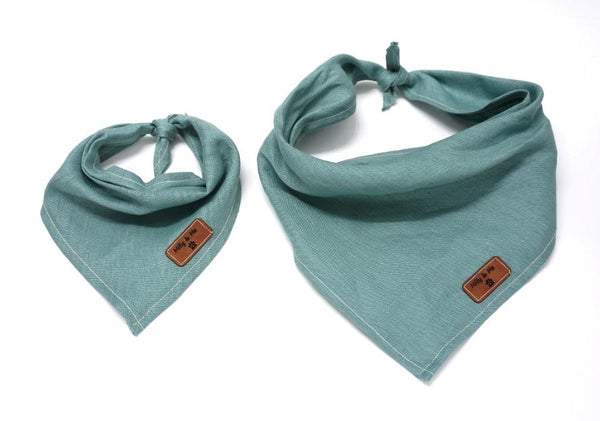 Milly and Me: Pure Linen Dog Bandana - Lagoon