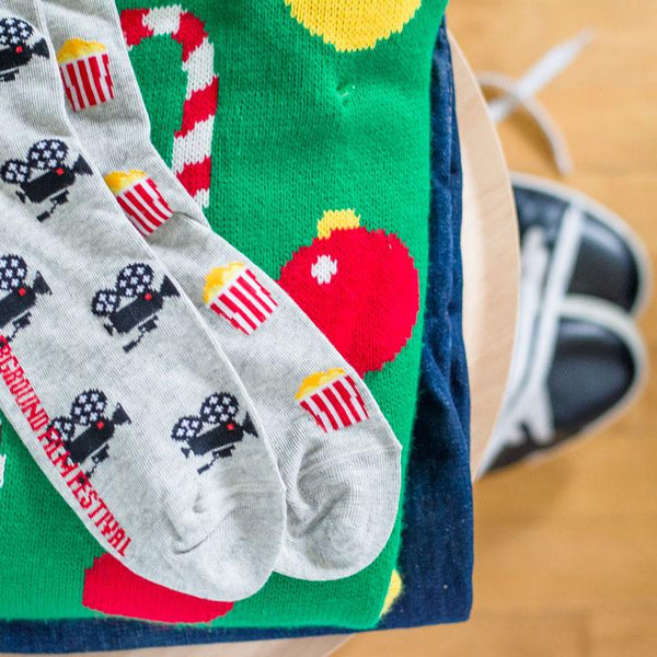 Men's Movie Camera & Popcorn Socks