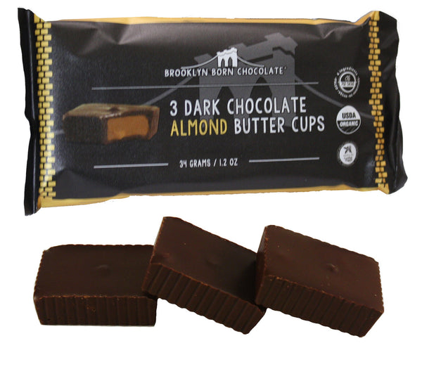 Brooklyn Born Chocolate - 3 Dar Chocolate Almond Butter Cups
