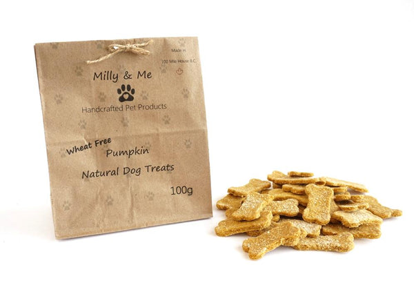 Milly and Me: Pumpkin Natural Dog Treats - WHEAT FREE