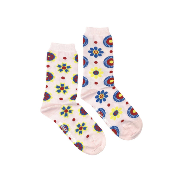 Women's Scandinavian Flower Socks