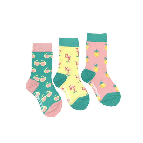 Kid's Flamingo, Pineapple & Sunglass Socks