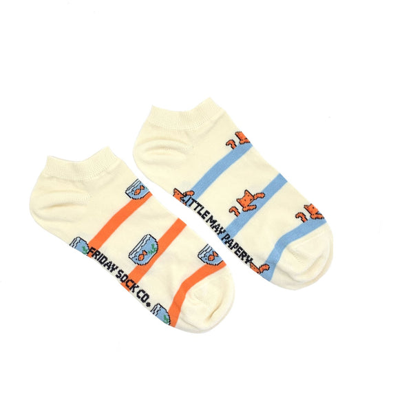 Women's Cat & Fishbowl Ankle Socks