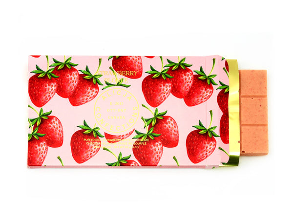 Strawberry Blonde White Postcard Chocolate Bar