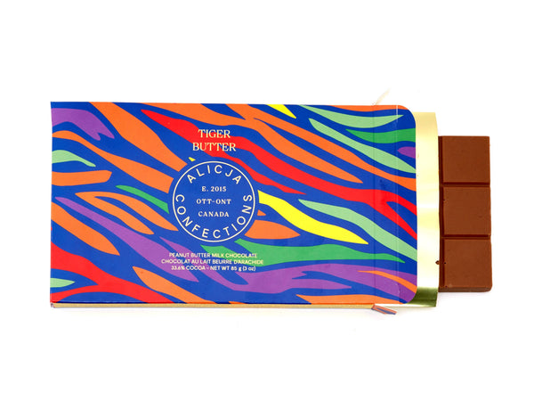 Tiger Butter Milk Postcard Chocolate Bar