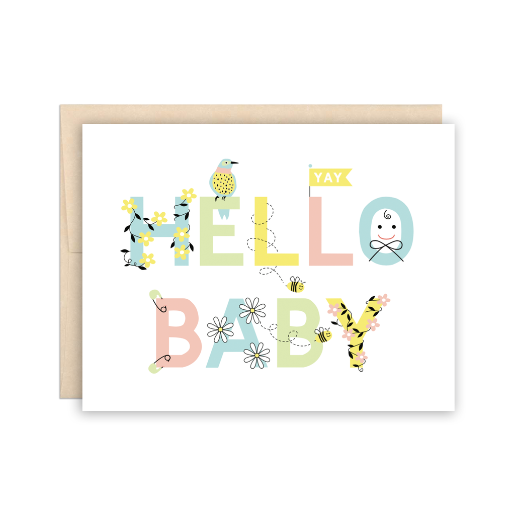 Hello Baby Congratulations New Baby Card