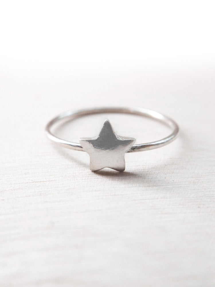 To Catch a Falling Star Ring - Silver Lily Studio