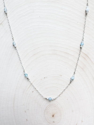 Mermaid's Baubles Aquamarine Necklace - Silver Lily Studio