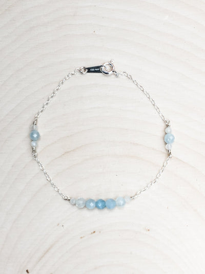 Mermaid's Baubles Aquamarine Bracelet - Silver Lily Studio