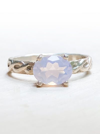 The Prophecy Lavender Moon Quartz Ring - Silver Lily Studio