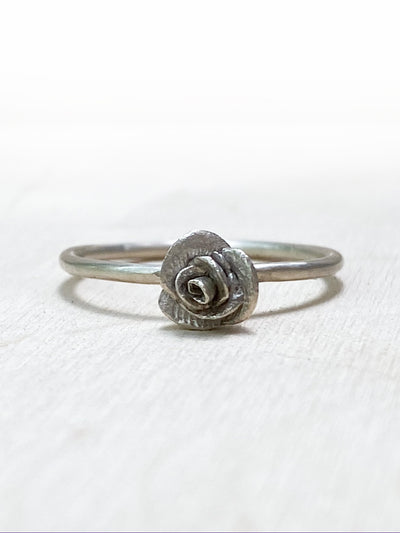 Rose Bud Ring - Silver Lily Studio
