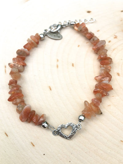 Pieces of My Heart Sunstone Bracelet - Silver Lily Studio