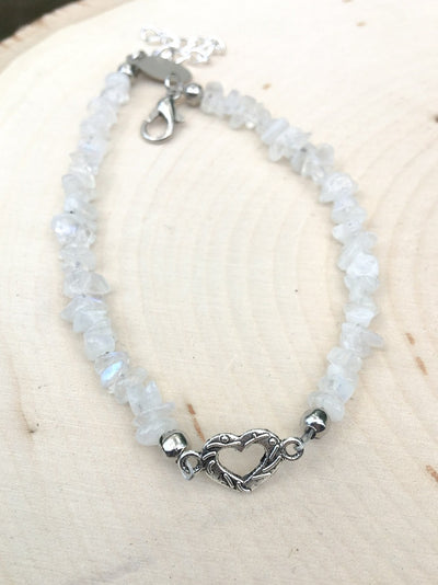 Pieces of My Heart Moonstone Bracelet - Silver Lily Studio