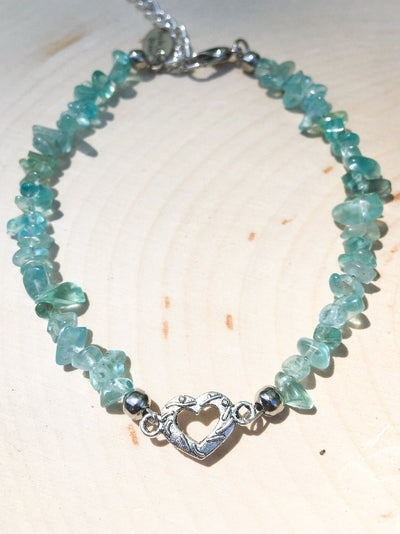 Pieces of My Heart Apatite Bracelet - Silver Lily Studio
