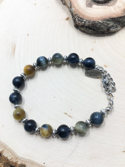 Jungle Eyes Bi-Color Bracelet - Silver Lily Studio