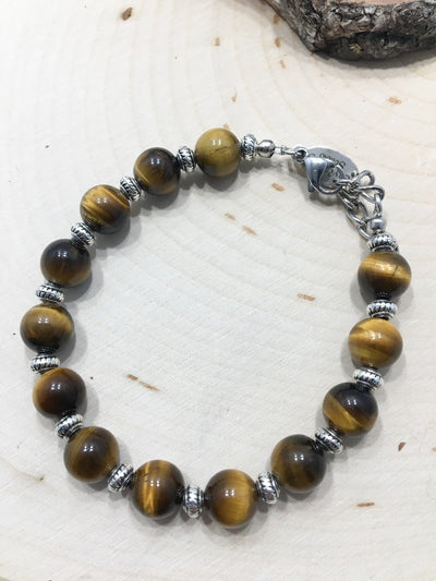 Jungle Eyes Brown Bracelet - Silver Lily Studio