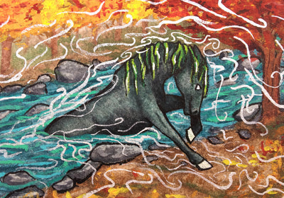 """Kelpie"" Mini Original Art - Silver Lily Studio"