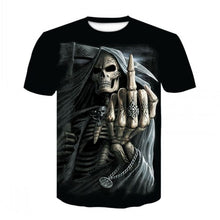 Load image into Gallery viewer, 2019 Summer New 3d Skull T shirt Men Short sleeve shirt Funny T shirts Rock Japan Punk Anime Gothic Rock 3dT-shirt Mens Clothing