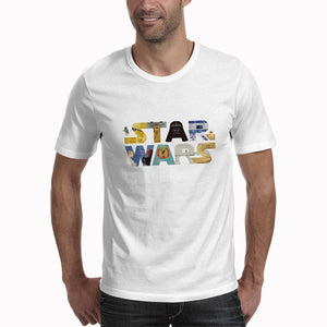 Men Women Plus Casual White Brand Clothing Star War Streetwear Tee Shirt Fashion T-shirts Letter Print Camisetas