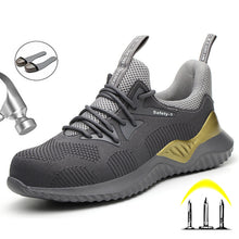Load image into Gallery viewer, Work Sneakers Safety Indestructible Shoes Steel Toe Work Safety Boot Anti-puncture Safety Shoes Work Boots Men Shoes Footwear