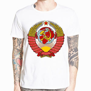 CCCP USSR Gagarin T Shirt New Design New Printed Short Sleeve Men's T-shirt Summer Cool O-neck Men Clothing HCP875
