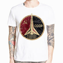 Load image into Gallery viewer, CCCP USSR Gagarin T Shirt New Design New Printed Short Sleeve Men's T-shirt Summer Cool O-neck Men Clothing HCP875