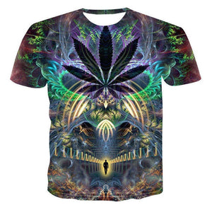 HOWL LOFTY 2019 T-Shirt psychedelic 3d Print t shirt Women Men Fashion Clothing Tops Outfits Tees Summer Style Plus Size 4XL