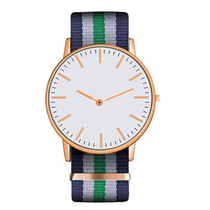 Hot Ultra Slim Quartz Watch Simple Nylon Band Relogio Masculino Fashion woman men Wristwatches 18 Styles