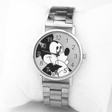Load image into Gallery viewer, zegarki meskie Fashion Brand Mickey Watches New Cartoon Women quartz watch Lady Stainless steel ladies dress watches reloj mujer