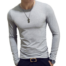 Load image into Gallery viewer, 2020 Spring Men T-Shirts Long Sleeve O-Neck Casual tshirts Fitness Jogging Solid Fashion Tee Basic Running Homme Top Clothing