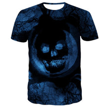 Load image into Gallery viewer, Skull Tshirt Men Card T-shirt Punk Rock Clothes White Ink 3d Print T Shirt Funny Anime Mens Clothing New Casual Summer Tops