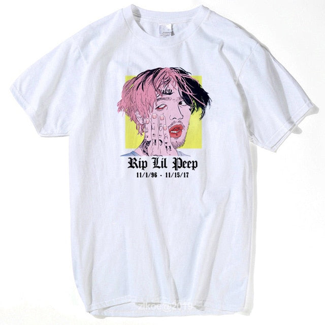 2019 lil peep T Shirt Music Man Summer Graphic Tees Singer women Male New Coming Oversize Clothing Comfortable Tee Shirt 3xl