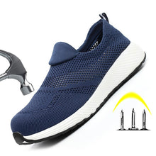 Load image into Gallery viewer, Breathable Mesh Work Shoes Mens Boots Safety Puncture-Proof Work Sneakers Safety Shoes Lightweight Working Footwear Steel Toe