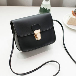 Women Messenger Bag Woman Bag 2019 Famous Brands Women Fashion Solid color Cover Lock Shoulder Crossbody Phone beach Bag